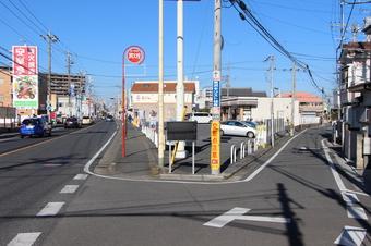 所沢中学近くの石柱