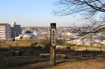 緑の森博物館の裏山から見える景色