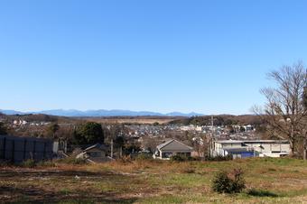 山口の小高い丘から見える景色