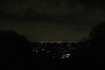 比良の丘から見える夜景