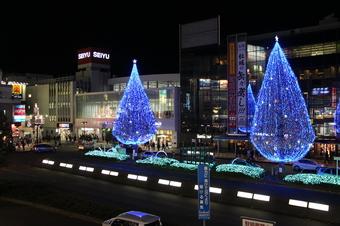 所沢駅前のイルミ
