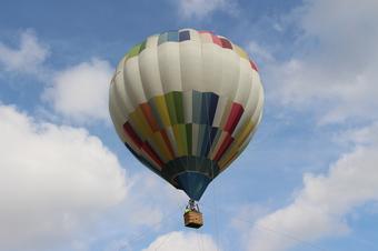 航空公園で気球体験